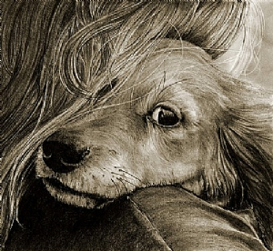 My Baby  (small) by Marsha Robinett Carbon Pencil ~ 7 x 7