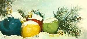 Snow Bound by Marsha Robinett Acrylic ~ 5 x 10.5