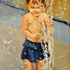 Splashing At The Fountain
