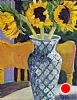 Sunlit Sunflowers by Norma Wilson Oil ~ 16 x