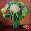 "Hydrangea Bouquet by Norma Wilson Oil ~ 20"" x 20"""