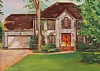 The Leary's House by Norma Wilson Pastel ~ 18 x 14