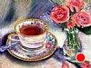 Grandmother's Tea  Cup by Norma Wilson Pastel ~ 14 x 18