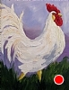 "Irish Rooster In The Field by Norma Wilson Oil ~ 14"" x 18"""