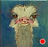 "You Lookin' At Me? by Norma Wilson Oil ~ 6"" x 6"""