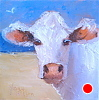 "Bathing Beauty by Norma Wilson Oil ~ 6"" x 6"""