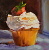 "Cupcake Delight by Norma Wilson Oil ~ 8"" x 8"""