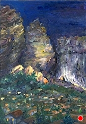 Meteora Nite SOLD by  Anthe Oil ~ 14 x 11
