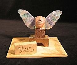 """e.6) Faith by  Anthe Mixed Media ~ 5"""" x 7.25"""""""