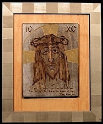 "h.5)  Jesus- John 6:47-48 Sold by  Anthe Woodburning ~ 10"" x 8"""