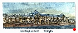 h. 2) The Musee' D'Orsay Sold out edition by  Anthe Intaglio - Etching ~ 3 1/4 x 9 3/4