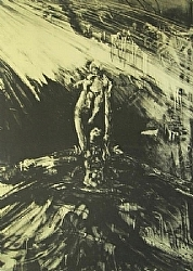 "Through It All by  Anthe Lithography ~ 37"" x 26 1/2"""