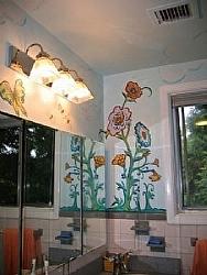 Bathroom Mural 1 by  Anthe Acrylic ~  x