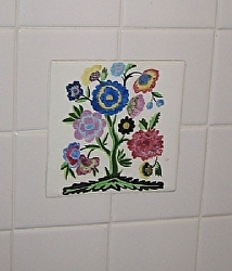 "Bathroom Mural by  Anthe Ceramic ~ 6"" x 6"""