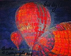 2. Balloon Glow by  Anthe Acrylic ~ 16 x 20