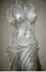 "c.) Venus by  Anthe Charcoal ~ 24"" x 16"""