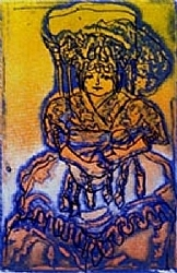 "L.5) Love Is Color Blind (A/P) by  Anthe Intaglio - Etching ~ 3"" x 2"""