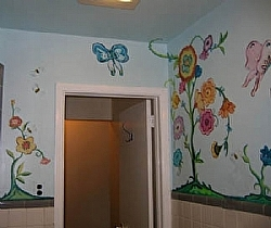 Bathroom Mural 4 by  Anthe Acrylic ~ 3' x 5'