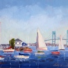 Sailing by Ida Lewis Newport Harbor