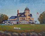 Castle Hill Newport RI by Betty Ann Morris Oil ~ 8 x 10