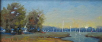 Morning Sail by Betty Ann Morris Oil ~ 3 inches x 6inches