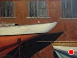 International Yacht Restoration School Newport RI by Betty Ann Morris Oil ~ 12 x 16