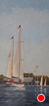 Setting Sail by Betty Ann Morris Oil ~  x
