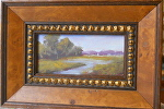 Mini Quiet Morning Sail by Betty Ann Morris Oil ~ 2 inches x 4 inches