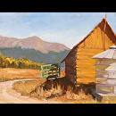 11x14 Old wagon_waow by Val Carson Oil ~ 11 x 14