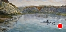 Morning Calm 2 by Val Carson Oil ~ 12 x 24