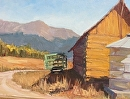 Old Green Wagon by Val Carson Oil ~ 11 x 14
