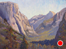 Inspiration Point, Yosemite, CA by Val Carson Oil ~ 12 x 16