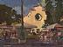 """Piazza Santo Spirito by Ernie Marjoram Acrylic ~ 12"""" x 16"""""""