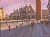 """Piazza San Marco by Ernie Marjoram Acrylic ~ 12"""" x 16"""""""