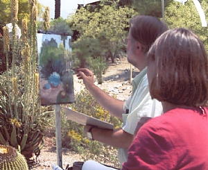 Live Plein-air Demonstration by Ernie Marjoram  ~  x