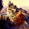 "San Marino by Ernie Marjoram Watercolor ~ 8"" x 6"""