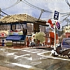 Ueno by Ernie Marjoram Watercolor ~ 11 x 14