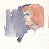 Irene by Ernie Marjoram Watercolor ~ 6 x 8
