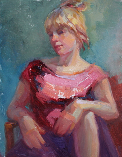 Pink Thoughts - Oil