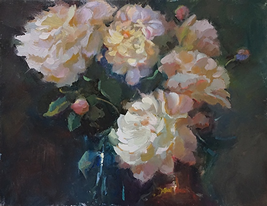 Wisconsin Peonies - Oil