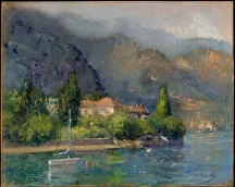 Lake Como Calm by Lillian Kennedy Acrylic ~ 16 x 20