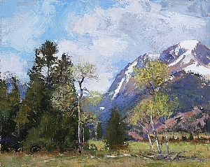 Early Spring in the Rockies by Lillian Kennedy Acrylic ~ 16 x 20