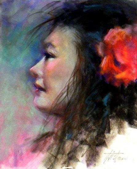 Spanish Girl - Pastel