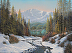 """140214-1216 """"Winter Morning - Pikes Peak"""" by Kenneth Shanika"""