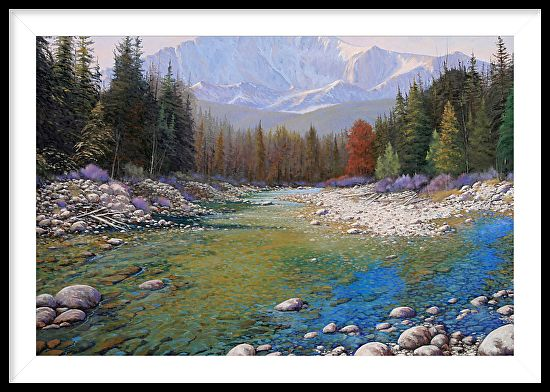 080401-4030 Shallow Waters - Pikes Peak by Kenneth Shanika Oil ~ 30 x 40