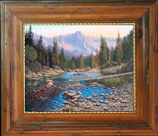 080503-3648 Late Summer Run-Off by Kenneth Shanika Oil ~ 36 x 48