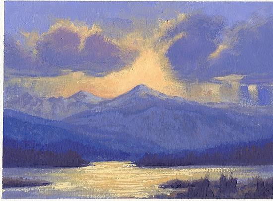 050801-75  After An Evening Storm by Kenneth Shanika Oil ~ 5 x 7