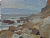 Rocky Coast by Glenn Dean Oil ~ 6 x 8
