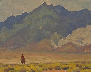 Lonely Rider by Glenn Dean Oil ~ 11 x 14