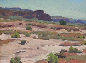 Mesa and Wash by Glenn Dean Oil ~ 9 x 12